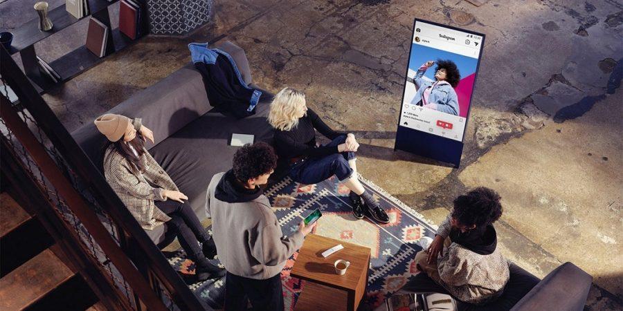 El televisor vertical de Samsung, The Sero, llega a España