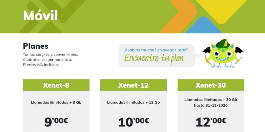Xenet anuncia una mejora de sus tarifas familiares