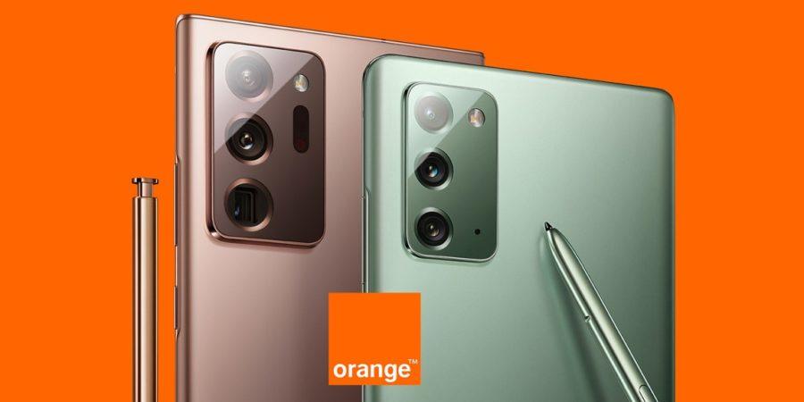 Orange anuncia sus planes para los Galaxy Note 20 y Note 20 Ultra