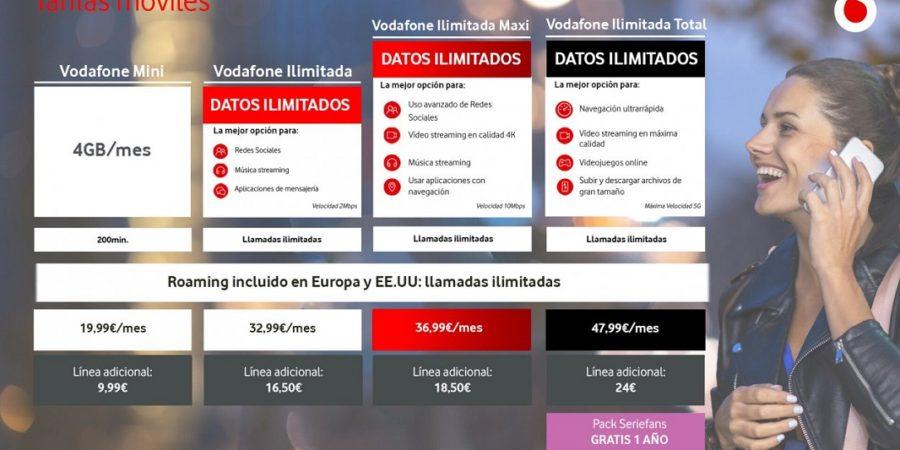 Vodafone rebaja los precios de sus paquetes convergentes con TV