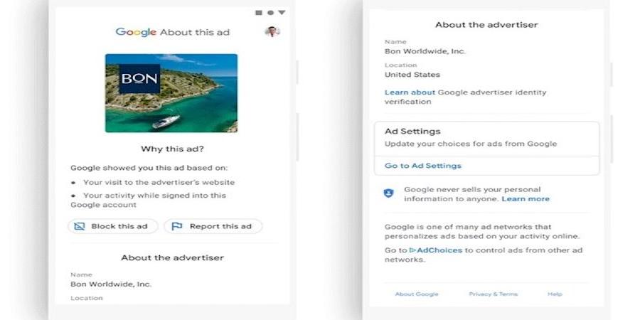Google enseñará el nombre verificado de los anunciantes en la publicidad