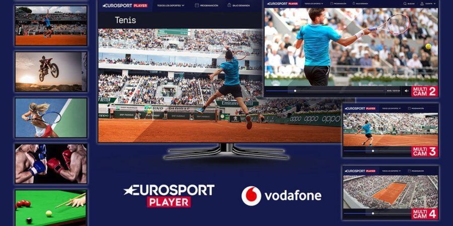 Vodafone TV añade oficialmente el servicio Eurosport Player