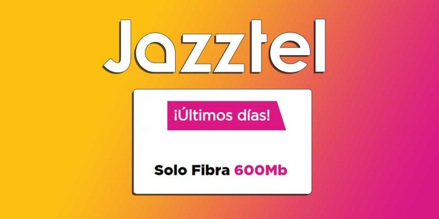 Últimos días para contratar la fibra de Jazztel por menos de 30 euros
