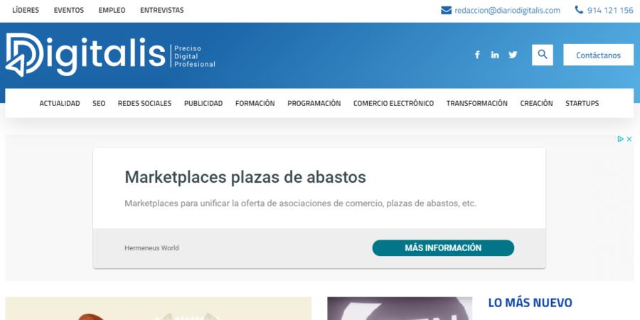 Nace Digitalis, el nuevo diario especializado para profesionales digitales