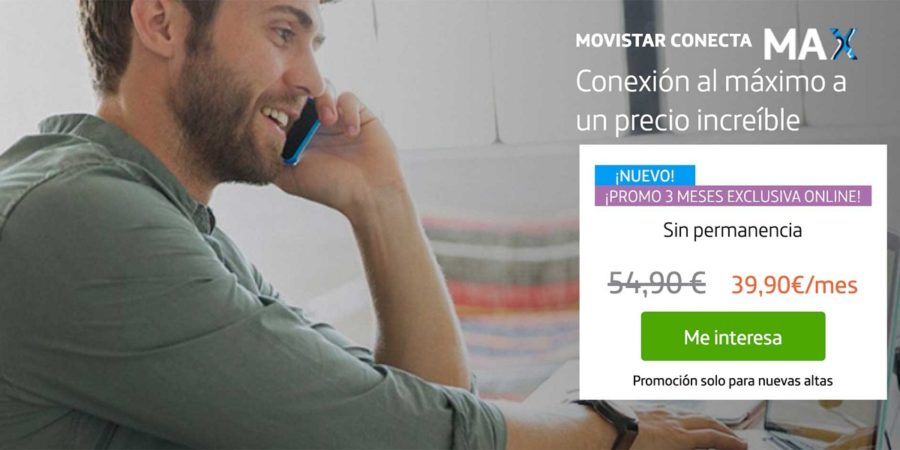 Movistar regala 5 GB con su combinado de fibra y móvil Conecta Max