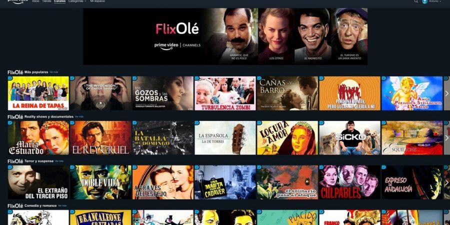 FlixOlé, el Netflix español, llega como canal a Amazon Prime Video