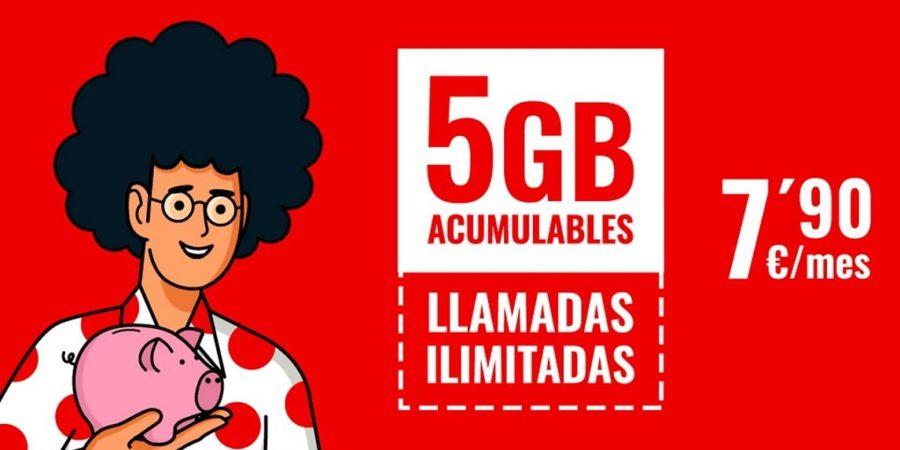 Pepephone presenta una tarifa móvil con 5GB acumulables y llamadas ilimitadas