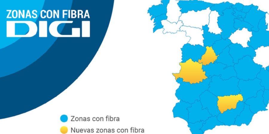 Digi lleva su fibra óptica a Ávila, Cáceres y Jaén