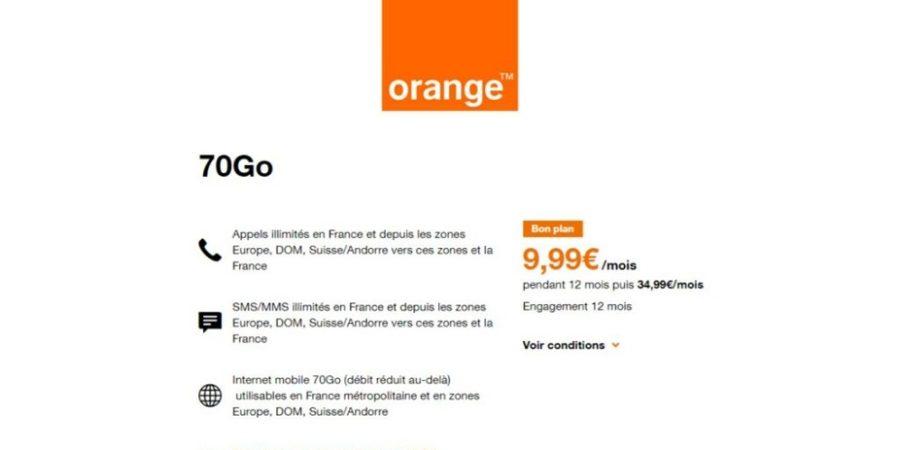 70 GB por 10 euros al mes, la última oferta de Orange… en Francia
