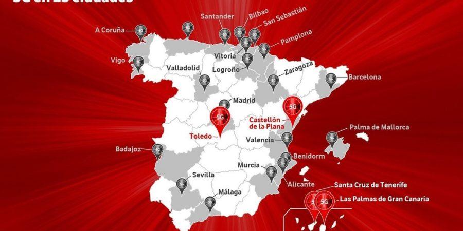 El 5G de Vodafone llega a Islas Canarias y otras dos ciudades