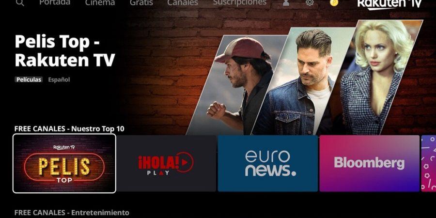 Rakuten TV ofrecerá 90 canales gratis disponibles las 24 horas