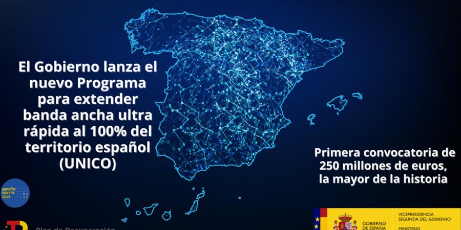 El Gobierno lanza el plan UNICO para impulsar la banda ancha ultrarrápida