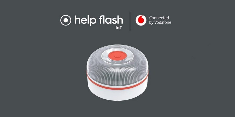 Vodafone presenta su primer dispositivo IoT: una baliza de emergencia para coches