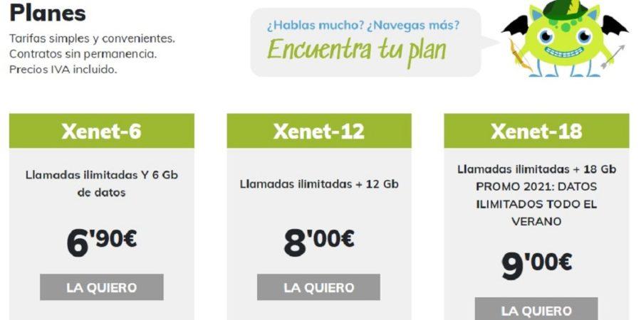 Xenet ofrece datos ilimitados para el verano desde 9 euros