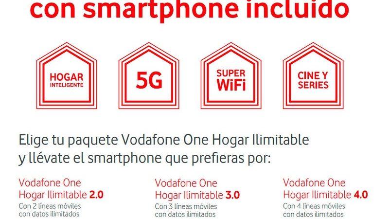 Vodafone regalará móviles a sus clientes One Hogar ilimitable