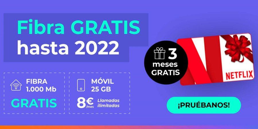 Fibra gratis hasta 2022 y Netflix de regalo, última oferta de Adamo