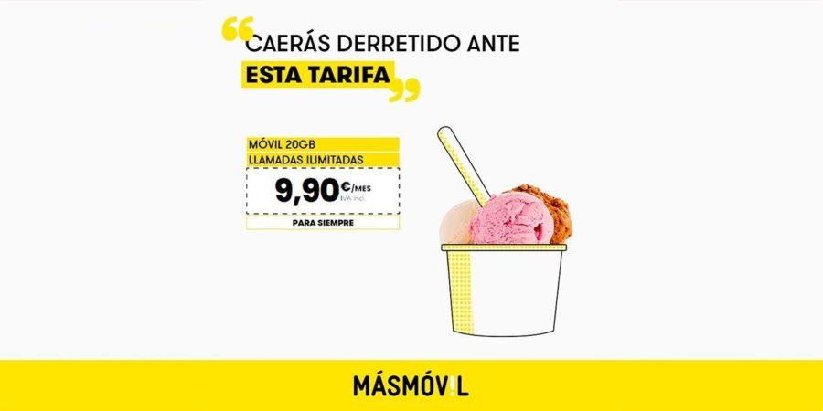 20GB por sólo 9,90 euros mensuales, la última oferta de MásMóvil