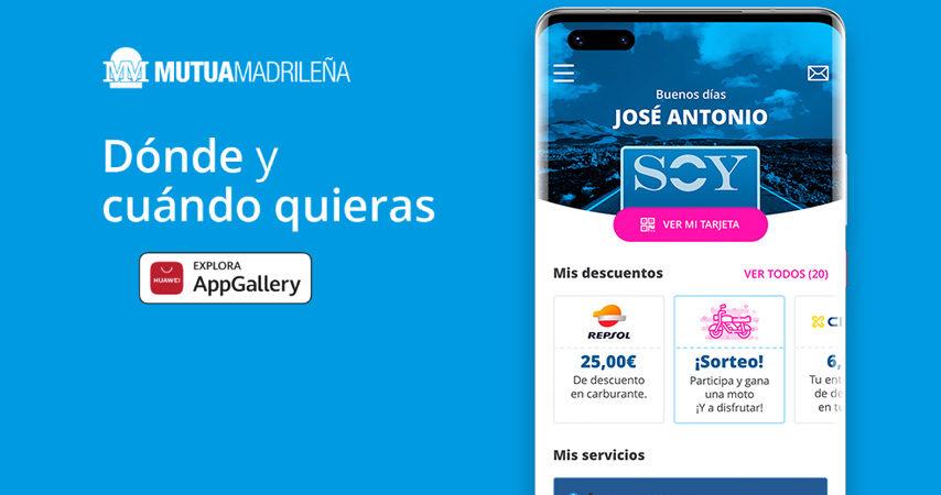 La 'app' de Mutua Madrileña, disponible para todos los dispositivos de Huawei a través de AppGallery